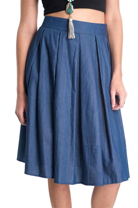 comme toi denim a line skirt from florida by crowder s