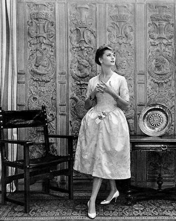 In Closet Vintage Lanvin by Ghislaine Arsac In Castillo For Lanvin 1957 Style