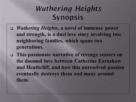 themes of love and revenge in wuthering heights introducing wuthering heights ppt video online download