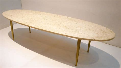 large modern coffee table mid century modern marble and brass large oval coffee