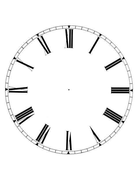 clock template corel printable blank clock face clipart best