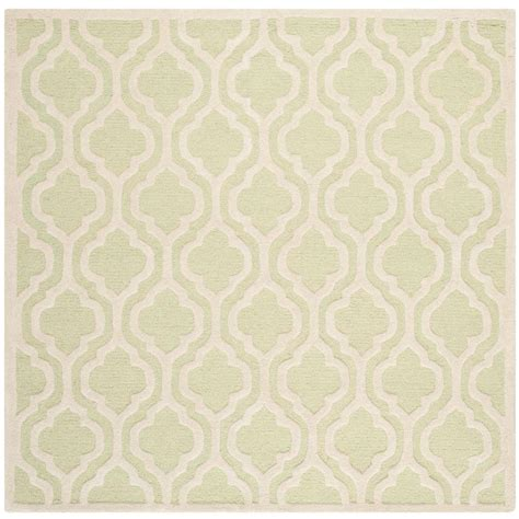 6 ft area rugs safavieh cambridge light green ivory 6 ft x 6 ft square area rug cam132b 6sq the home depot