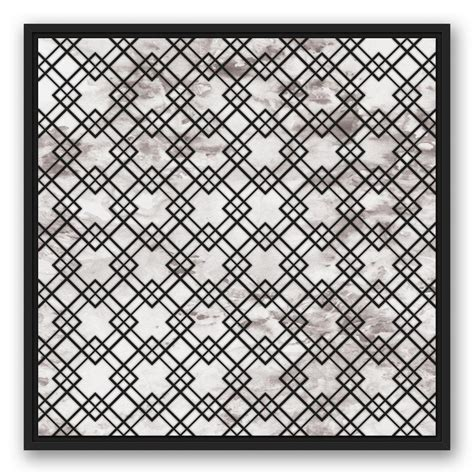 pattern canvas wall art designs direct 24 in x 24 in distressed clover pattern