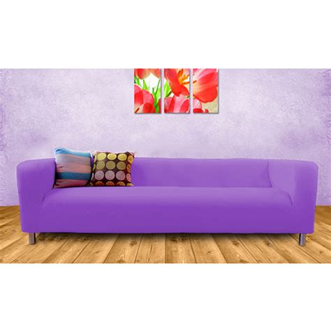 Purple Cover Slipcover To Fit Ikea Klippan 2 Or 4 Seater Purple Sofa Slipcover