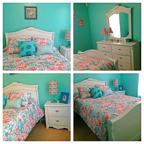 turquoise and coral girl s bedroom allies bedroom ideas pinterest