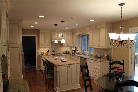 Kurtis Cabinets by New Venetian Gold Granite Kitchen Traditional With Granite