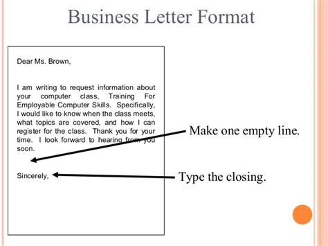 Business Letter Template Asking For Information letter writing communication skills