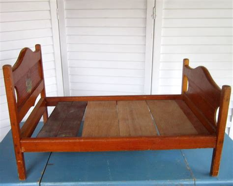 Vintage Doll Crib Wood by Antique Doll Bed Wood Doll Crib Vintage Wooden With