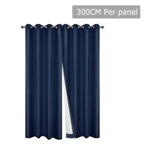 blockout curtains australia buy set of 2 300cm blockout curtain navy graysonline