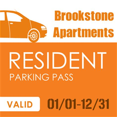 apartment parking pass sticker signazon