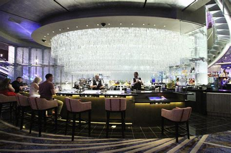 cosmopolitan chandelier bar renovated chandelier bar opens at cosmo with new comp