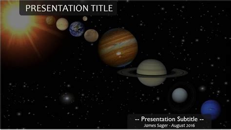 Free Planets Powerpoint Template 11207 Sagefox Powerpoint Templates Solar System Powerpoint Template
