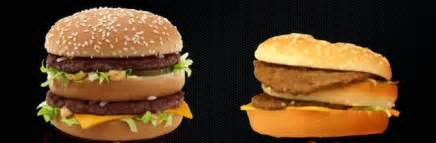 can fast food restaurants actually make burgers that look