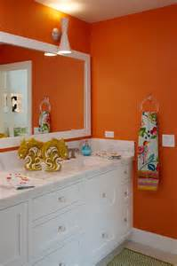 Orange Bathroom Decorating Ideas by Citrus Colors Are Back Tour These 7 Summery Bathrooms