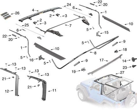 Jeep Parts List Jeep Wrangler Jk Soft Top Hardware Parts 2 Door Quadratec