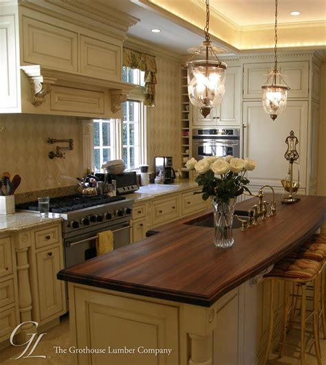 walnut wood counter for kitchen island in florida kitchen sink plumbing rough in dimensions quotes