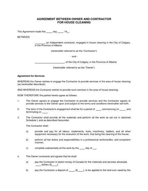 cleaning services agreement template house cleaning contract sle learn more at http goo gl