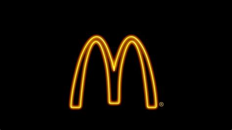 mcdonald s background fast food sign neon light simple background mcdonalds