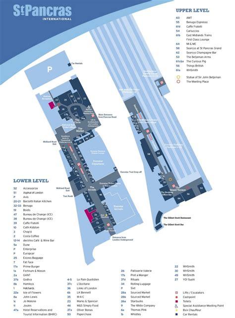 st pancras floor plan st pancras railway station map