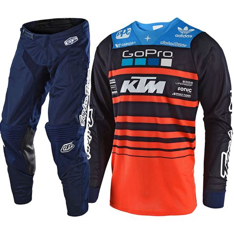 ktm motocross gear troy designs 2018 mx streamline navy team ktm tld
