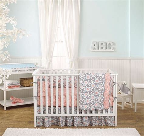 Dahlia Nursery Bedding Set Track Price And Compare Grey Dahlia 8 In 1 Baby Crib Bedding Collection By Balboa Baby