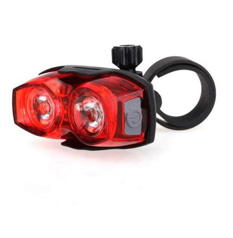 bright eyes bike light review smd3528 2 led cycling bike bicycle rear tail light red 3