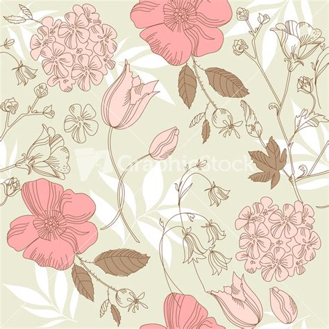 seamless pattern flower seamless vintage flower pattern