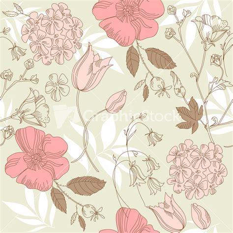 pattern vintage flower seamless vintage flower pattern