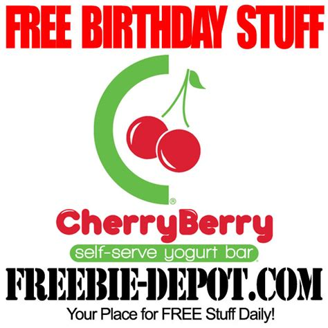 Cherry Berry Yogurt Bar Gift Card Balance - free birthday stuff cherryberry yogurt bar freebie depot