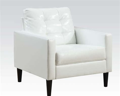White Accent Chair Contemporary White Accent Chair By Acme Furniture Ac59048