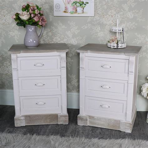 cream french bedroom furniture pair cream 3 drawer bedside table bedroom furniture french