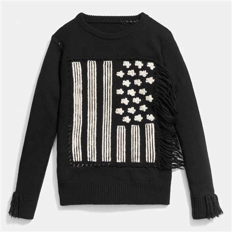 Sweater Black Flag K21 coach flag intarsia sweater in black lyst