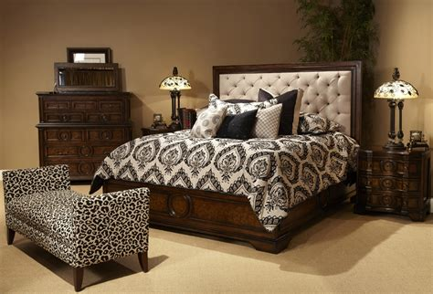 Tufted Bedroom Furniture Cera King 5 Pc Bedroom Set W Fabric Tufted Headboard W 2 Stands Ebay