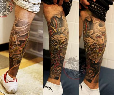 oriental tattoo designs leg 61 dragon tattoos ideas for leg