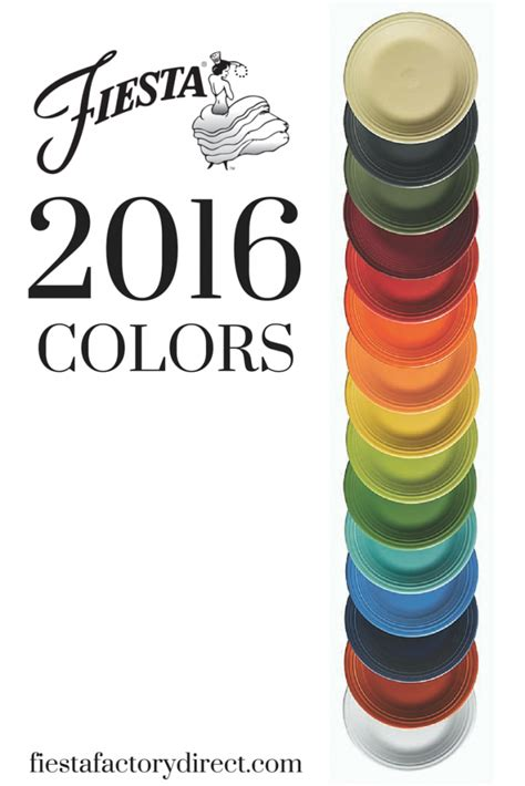 fiestaware color chart claret new 2016 color dinnerware always