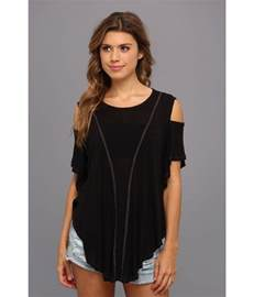 cold shoulder top free cold shoulder seamed top shipped free at zappos