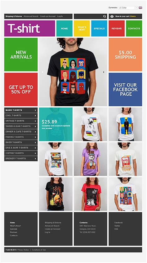 Trendy Fashion Website Templates Entheos Ecommerce T Shirt Website Templates