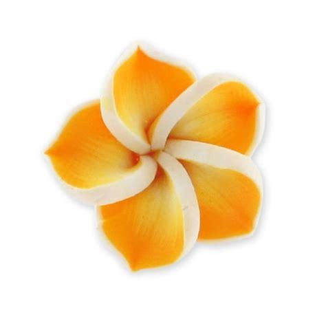 fiore fimo fiore fimo mm 20 arancio x1 perles co