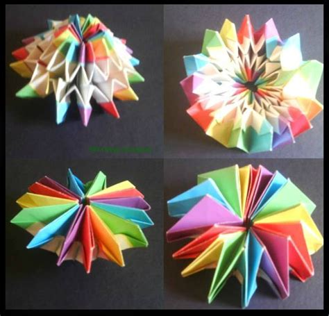 How To Make Origami Fireworks - firework origami