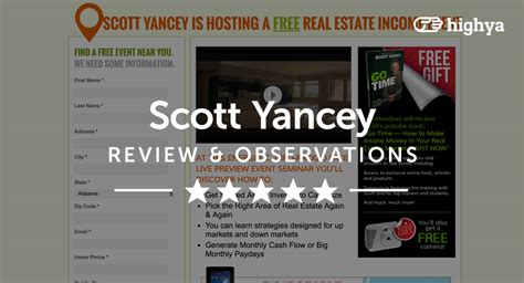 scott yancey scam scott yancey reviews is it a scam or legit