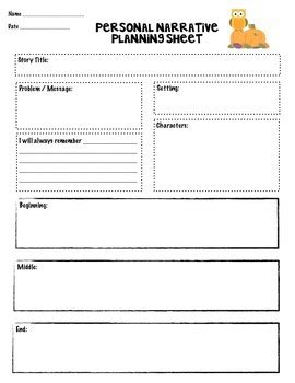 Narrative Essay Writing Graphic Organizers by Personal Narrative Writing Graphic Organizer By One Modern
