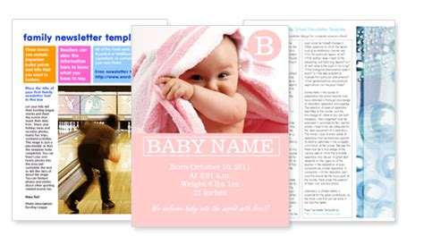 flyer templates xcf family newsletter templates free
