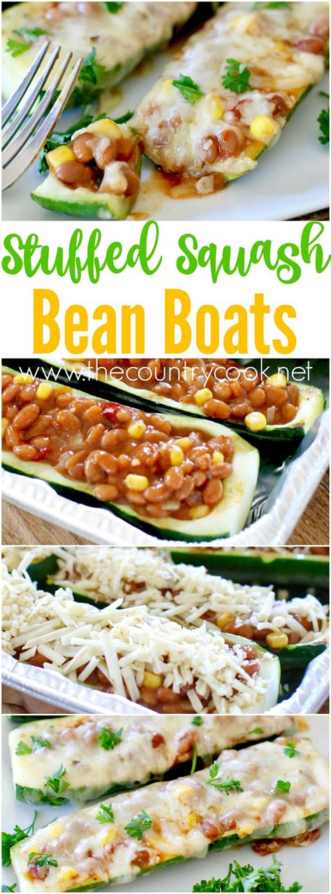 beans boats stuffed squash bean boats recipe zucchini baked beans