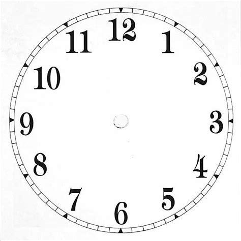 printable large clock face print clock face