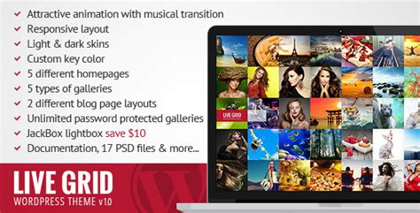 Griddr Animated Grid Creative Theme new psd templates