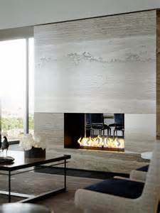 Living Room Fireplace by Luxury Waterfront Condominium With Expansive Views Of Nyc