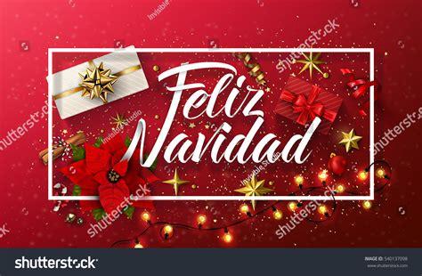 feliz navidad card template vector merry card template greetings stock