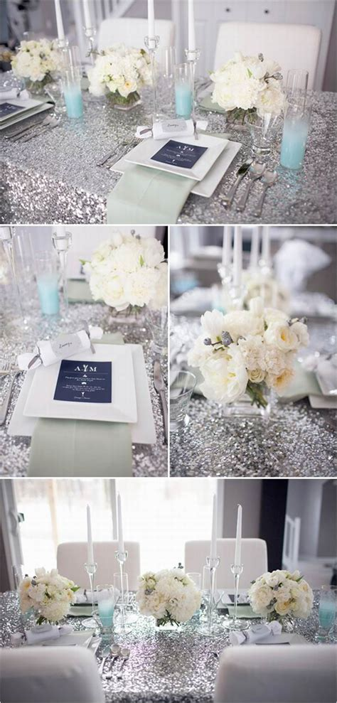 silver and blue decorations table number holders wedding decor ten 10 with golden