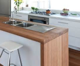 Black Kitchen Island With Butcher Block Top kitchen benchtops benchtops kitchen design auckland