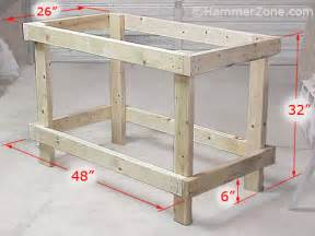 Simple Work Bench Plans Desks Workbench On Pinterest Desk Plans Workbenches And